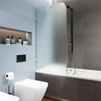 Шторка на ванну, матовое стекло, 6мм