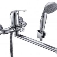 СЛ-ОД-В31 Смеситель для ванны и умывальника унив. с поворот.изл., перекл. флажковый, одноручный
