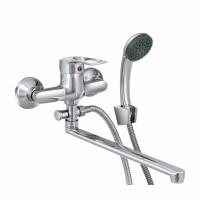 СЛ-ОД-Ц31 Смеситель для ванны и умыв. с поворотным изливом, переключатель флажковый, комплект, Ц31