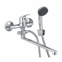 СЛ-ОД-П31 Смеситель для ванны и умывальника унив.с поворот.изл., перекл.кнопочный, одноручный П31