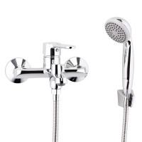 СЛ-ОД-Т30 Смеситель для ванны с коротким литым изливом, перекл.кнопочный, одноручный Т30