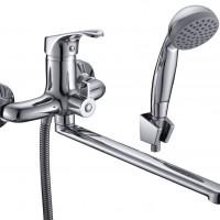 СЛ-ОД-Б31 Смеситель для ванны и умывальника унив. с поворот.изл., перекл. флажковый, одноручный Б31